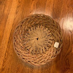 2 Round Straw Baskets